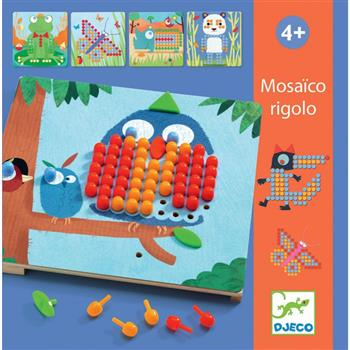 Djeco: Mozaika RIGOLO-kolorowe obrazki