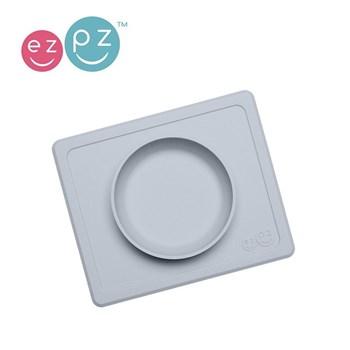 EZPZ - Silikonowa miseczka z podkładką j. szary