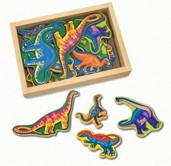MELISSA&DOUG: Drewniane magnesy Dinozaury