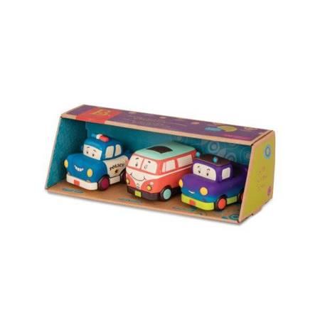 B.Toys: Zestaw 3 mini autek z napędem