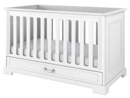 Bellamy - Ines elegant white łóżeczko 70x140