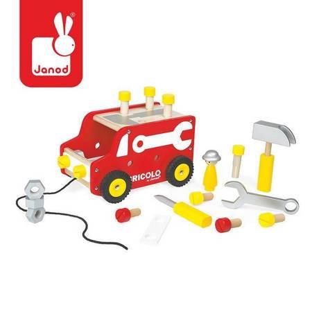 Janod - Ciężarówka z narzędziami do ciągnięcia