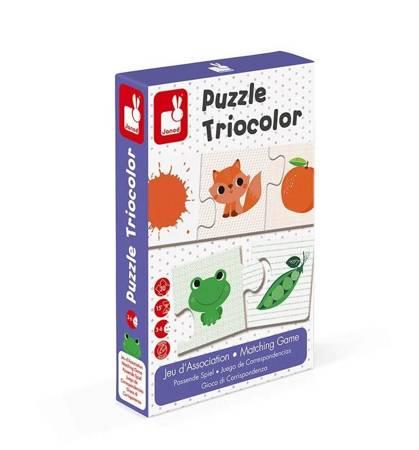 Janod - Trzyczęściowe puzzle Kolory 30 elementów